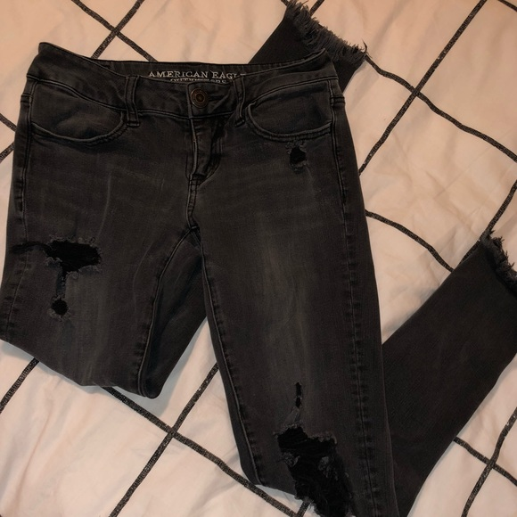 American Eagle Outfitters Pants - Distressed Black Jeans